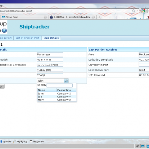 The ship details view can be edited manually or filled by using the data from AIS signals.