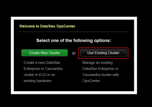 Use existing cluster