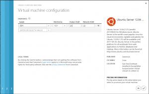 Virtual Machine Setup Endpoints